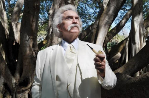 Rod as Mark Twain at Selby Gardens, Sarasota, FL
