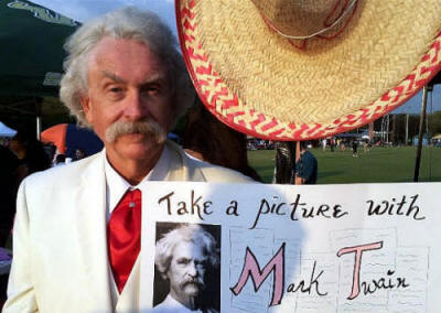 Rod as Mark Twain at USF Fundraiser