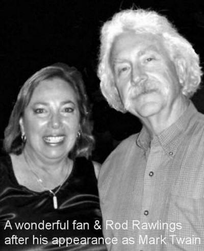 After the Show with Rod Rawlings as Mark Twain