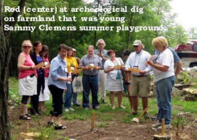 Dig at Florida, Missouri farm of Sam Clemens' uncle.
